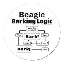 Beagle Logic Round Car Magnet