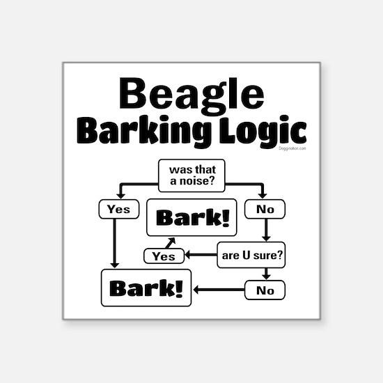 """Beagle Logic Square Sticker 3"""" x 3"""""""