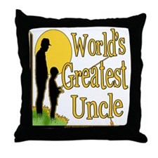 World's Greatest Uncle Throw Pillow