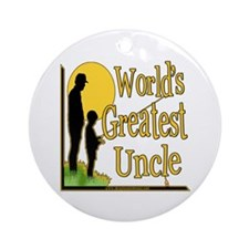 World's Greatest Uncle Ornament (Round)