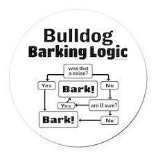 Bulldog logic Round Car Magnet