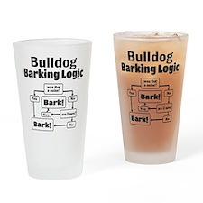 Bulldog logic Drinking Glass