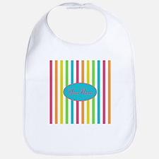 Colorful Multi Stripes Personalized Bib