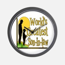 World's Greatest Son-in-law Wall Clock