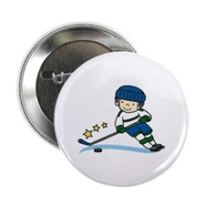 "Hockey Boy 2.25"" Button (100 pack)"