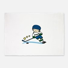 Hockey Boy 5'x7'Area Rug