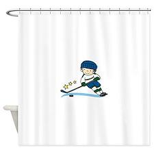 Hockey Boy Shower Curtain