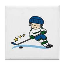 Hockey Boy Tile Coaster