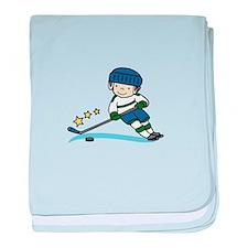 Hockey Boy baby blanket