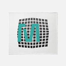 Cool Fun Giant Monogram Throw Blanket