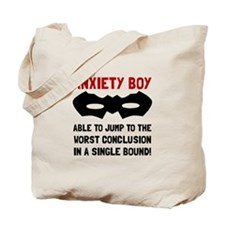 Anxiety Boy Tote Bag