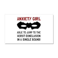 Anxiety Girl Car Magnet 20 x 12