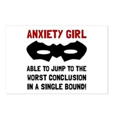 Anxiety Girl Postcards (Package of 8)