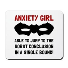 Anxiety Girl Mousepad