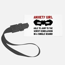 Anxiety Girl Luggage Tag