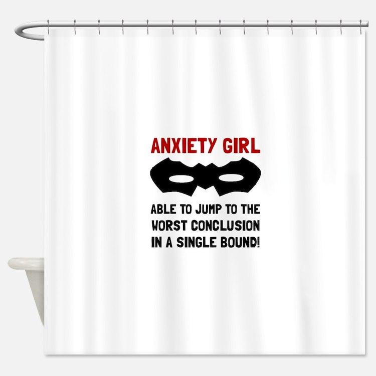 Anxiety Girl Shower Curtain