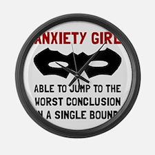 Anxiety Girl Large Wall Clock