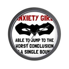 Anxiety Girl Wall Clock