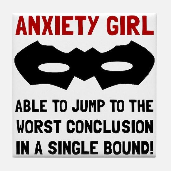 Anxiety Girl Tile Coaster