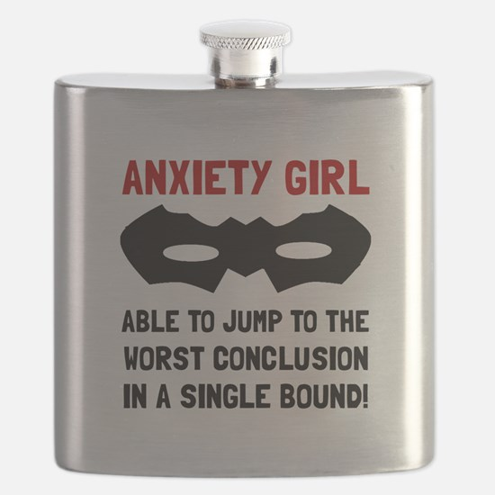 Anxiety Girl Flask