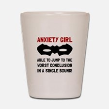 Anxiety Girl Shot Glass