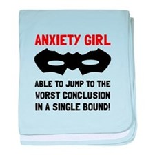 Anxiety Girl baby blanket