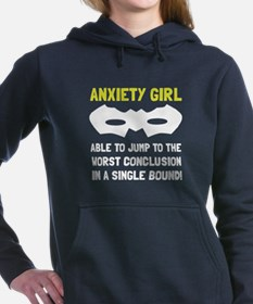 Anxiety Girl Women's Hooded Sweatshirt