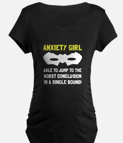 Anxiety Girl Maternity T-Shirt