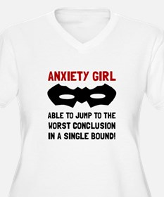 Anxiety Girl Plus Size T-Shirt
