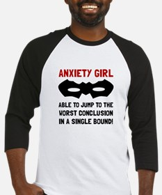 Anxiety Girl Baseball Jersey