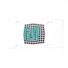 Cool Fun Giant Monogram Aluminum License Plate