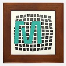 Cool Fun Giant Monogram Framed Tile