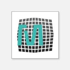 "Cool Fun Giant Monogram Square Sticker 3"" x 3"""