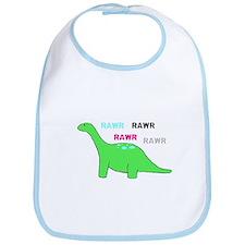 Rawr! Green Bib