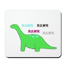 Rawr! Green Mousepad