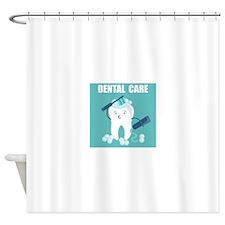 Dental Care Shower Curtain
