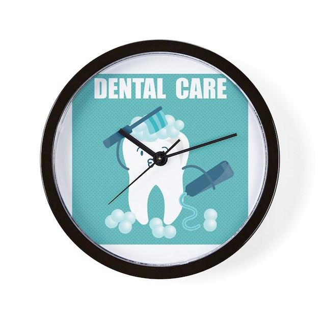 Dental Care Wall Clock By Teesparty