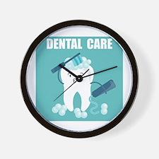 Dental Care Wall Clock