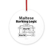 Maltese Logic Ornament (Round)