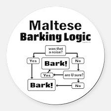 Maltese Logic Round Car Magnet