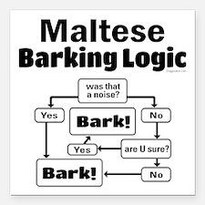 "Maltese Logic Square Car Magnet 3"" x 3"""