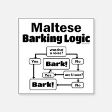"Maltese Logic Square Sticker 3"" x 3"""