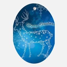 Beautiful deer Ornament (Oval)