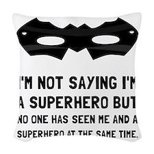 Me And Superhero Woven Throw Pillow