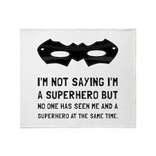 Me And Superhero Throw Blanket