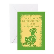 Flemish Belgian Birthday Greeting Cards (pk Of 10)
