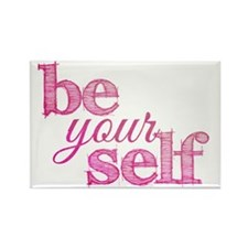 Be Yourself (pink grunge) Rectangle Magnet
