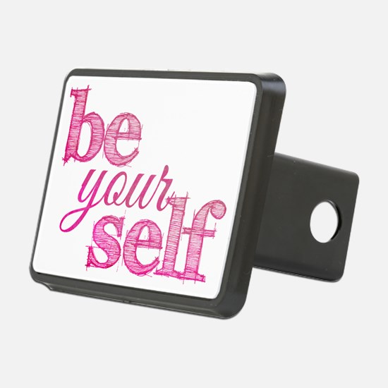 Be Yourself (pink grunge) Hitch Cover