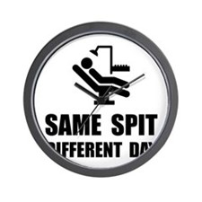 Same Spit Different Day Wall Clock