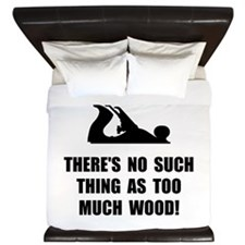 Too Much Wood King Duvet